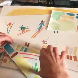 What Can You See? illustrator Hannah Rounding gives us a peek inside her studio