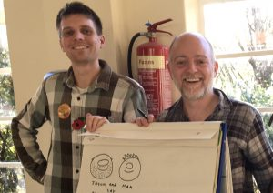 Jason & Max write & illustrate another chapter at the Crickhowell Children's Book Festival