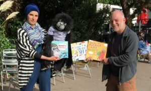 Overshadowed by a monkey at first public reading since lockdown