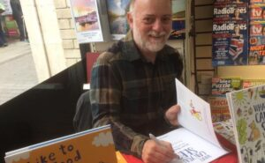 Summer book signing, indoors, in Pembrokeshire